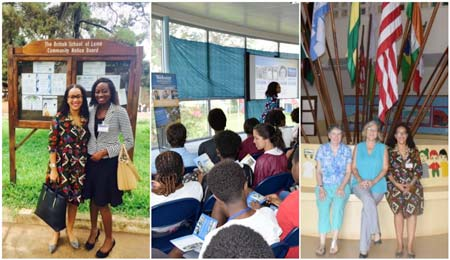 The team visited 48 schools in Ghana, Togo, Ivory Coast, Nigeria and Sierra Leone.