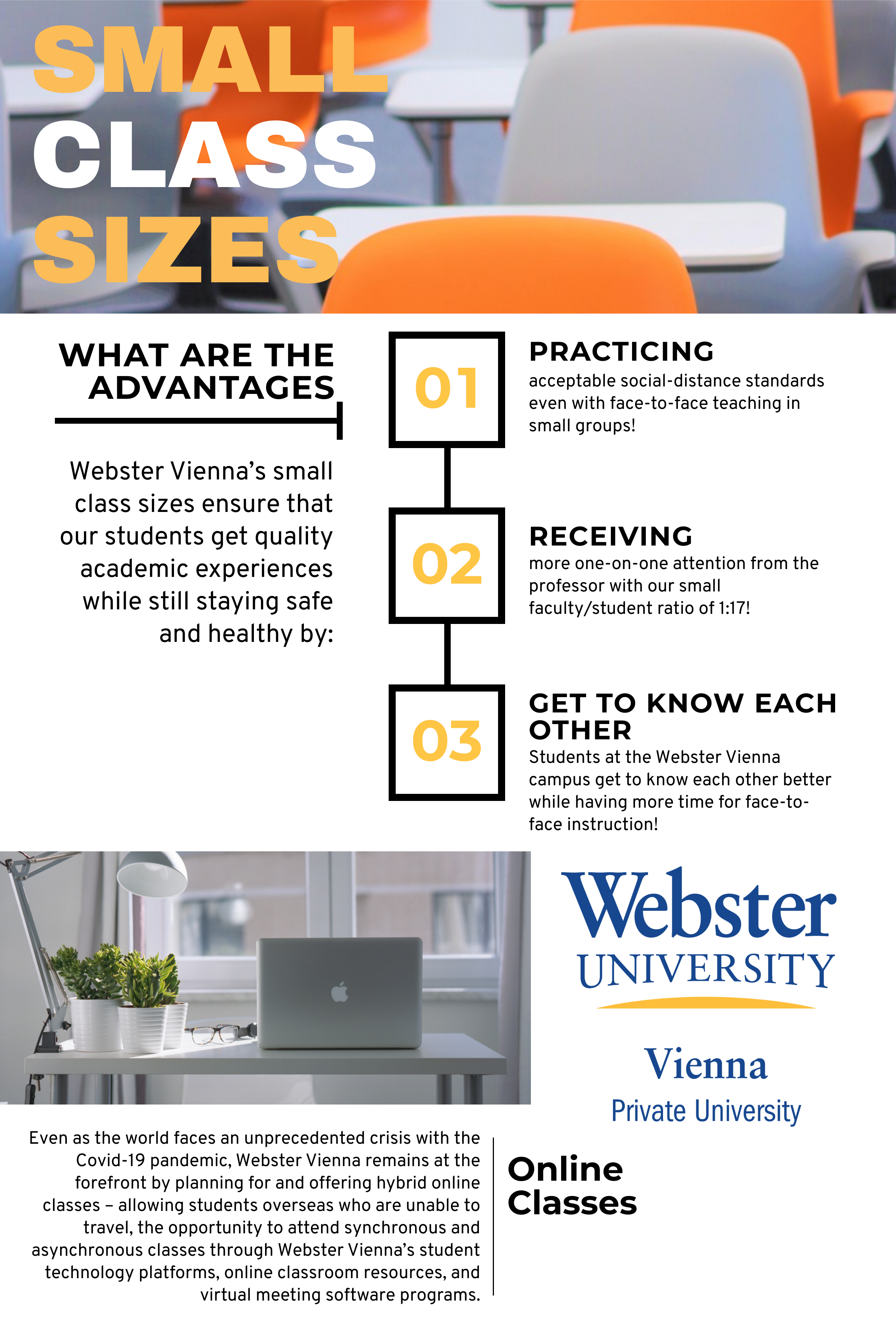 What are the Advantages of Webster Vienna's Small Class Sizes?
