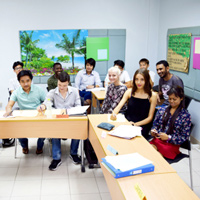 Snapshot of Webster with 9 Nationalities in Thailand ESL Class