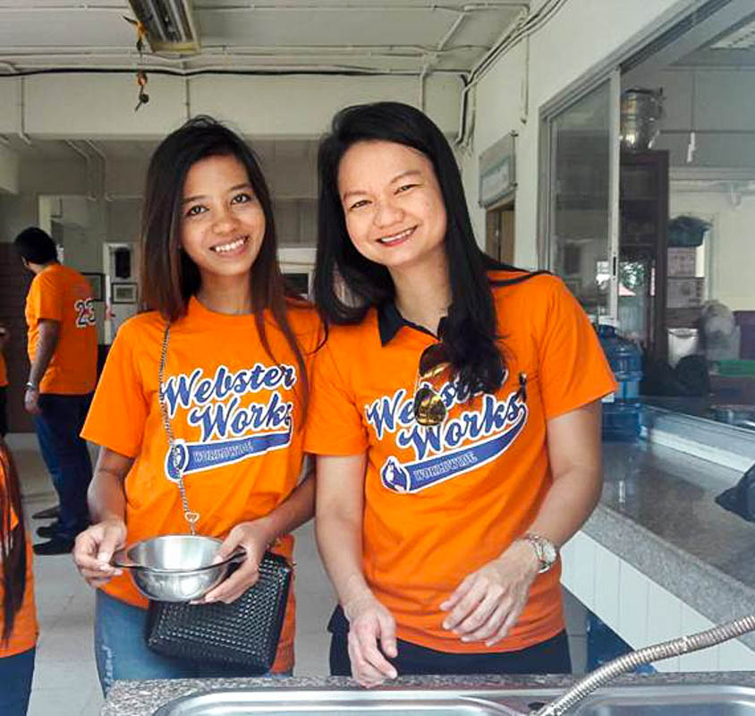 Community Service on Display at Webster Works Worldwide in Thailand