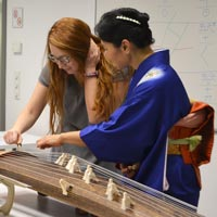 Famous Japanese Koto Player Lectures Webster Vienna World Music Class