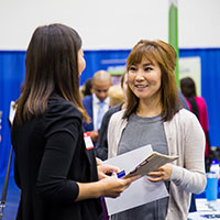 The Career and Internship Fair saw nearly 60 employers attend.