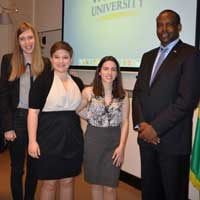 Ambassador Karabaranga with Webster Leiden students