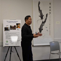 Confucius Institute Hosts Exhibit, Demonstration with Chinese Artist Dengbai Yuejin