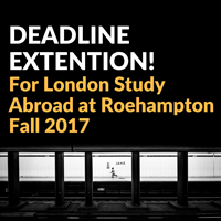 London Study Abroad Program Application Deadline Extended