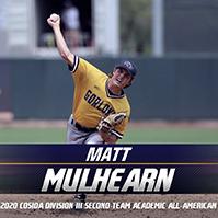 Mulhearn Named to CoSIDA Division III Academic All-America Baseball Team