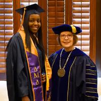 Pres Stroble with graduate