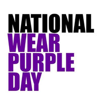 Oct. 18 is National Wear Purple Day for Domestic Violence Awareness