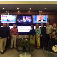NCR Human Resources class tours NFLPA