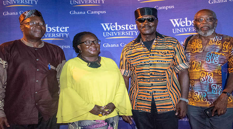 Webster Ghana creative arts lecture
