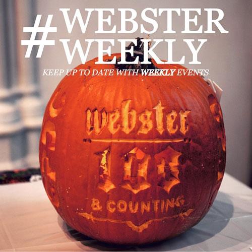 #WebsterWeekly: Plan Your Webster Week (October 26-31)