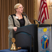 Beth Russell, assistant provost for Graduate Studies, is the current President of the Rotary Club of St. Louis