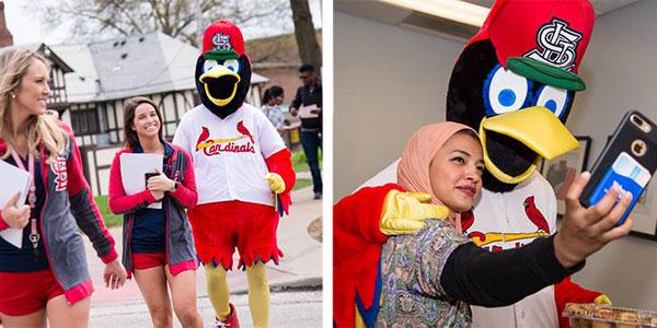 fredbird walks campus