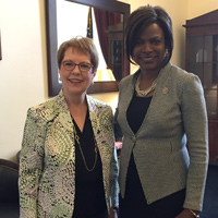 President Strobel and Rep. Valdez (Val) Demings '90