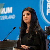 Webster Geneva Student Aya Abdullah Speaks At Opening Plenary of the Global Refugee Forum