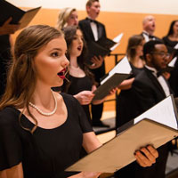 Two Webster Choral Ensembles Hold Final Performances of the 2018-19 School Year May 4-5