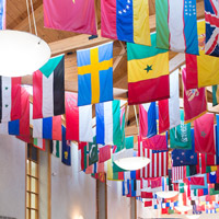 Flags in the University Center