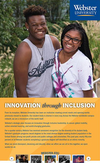 "The ""Innovation through Inclusion"" ad"