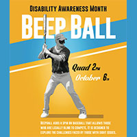 Webster Hosts Beepball Game in Honor of Disability Awareness Month