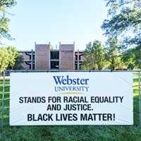 Webster University's Black Lives Matter Banner Reported Stolen