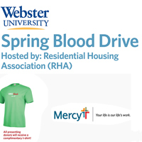 All presenting donors receive a t-shirt. Those who make appointments are entered into a prize drawing.