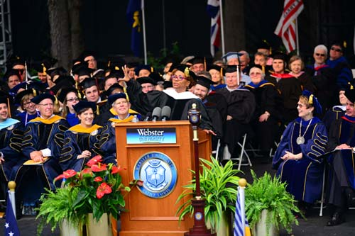 Jenifer Lewis wows the crowd at Commencement.