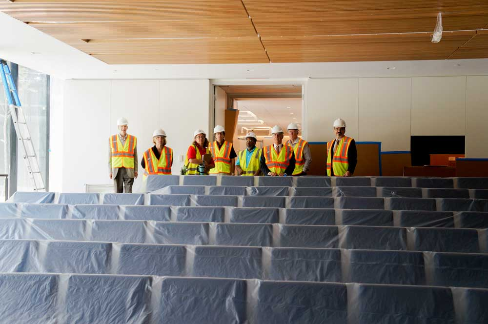 Members of the chamber of commerce tour Browning Hall
