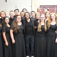 The Chamber Singers joined Groban on stage in Kansas City for