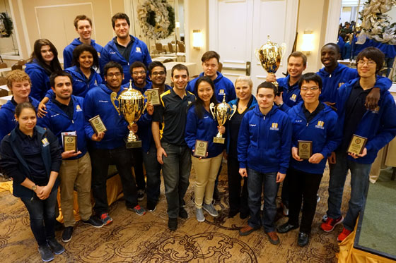 Webster University chess team champions at the 2016 PanAm