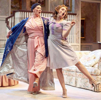 Madeleine Purches (Class of 2017) as Grey Gardens in Young Little Edie with vocal faculty member Debby Lennon.