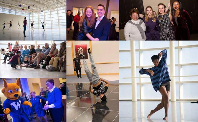 From the roaring 1920s to the hip hop of today, students, alumni, faculty, staff and community friends celebrated the Centennial with an eclectic day of dance.
