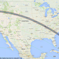 The path of the solar eclipse, the first tracking across the United States since 1918.