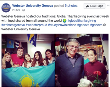 The Webster Geneva global Thanksgiving