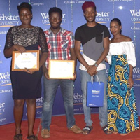 Student Leader Award Recipients Honored in Ghana
