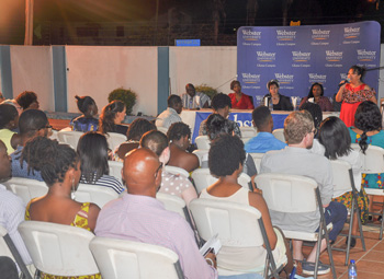 "The audience at Webster Ghana's ""MeToo from an African perspective"""
