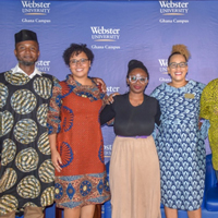 Speakers at Webster Ghana's event