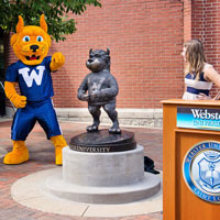 Meet Me at the Gorlok: Student Leaders Unveil Statue of University Mascot