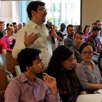 New students heard from deans and had the opportunity to ask questions of current graduate students.