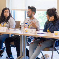 Students discuss themes at the Global Student Leadership Summit