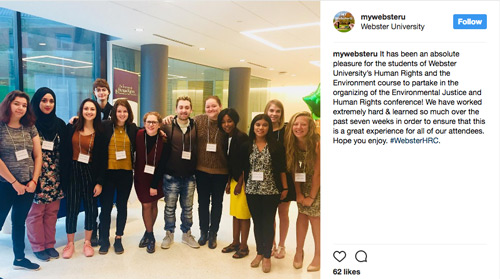 Human Rights Conference: Student planners on mywebsteru