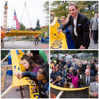 Scenes from the Topping Out ceremony for the Interdisciplinary Science Building