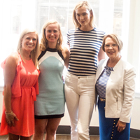 "Supermodel Karlie Kloss visited Webster University's Gateway Campus as it hosted one of her ""Kode with Klossie"" summer camps."