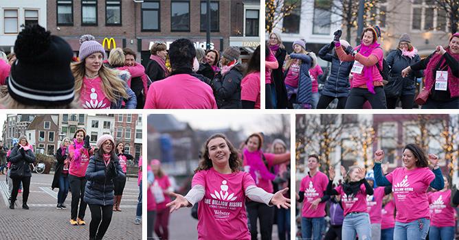 'One Billion Rising' on the Beestenmarkt in Leiden