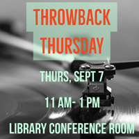 Library Events: International Student Trivia, Throwback Thursday, Homecoming