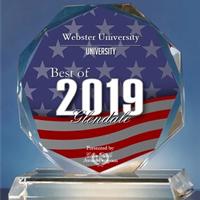 Webster University received the Best of Glendale Award