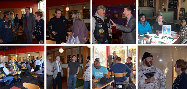 Scenes from Veterans Day breakfast in St. Louis