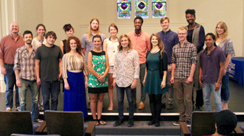 Recipients of endowed scholarships in the Department of Music