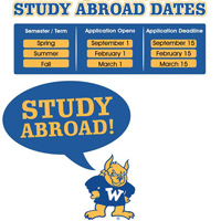 Application Deadlines for Study Abroad Opportunities