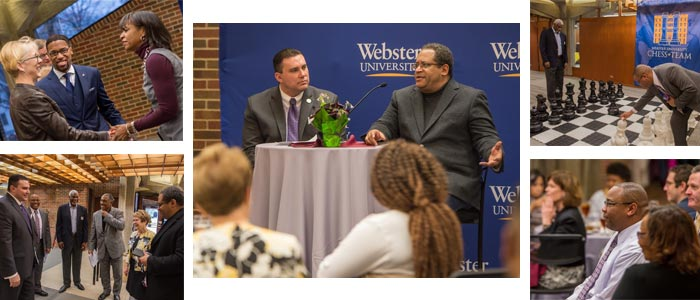 Urban League guests and community members heard from noted author Michael Eric Dyson in the Luhr Building.