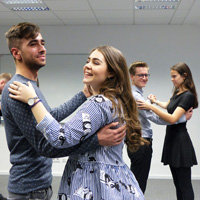 Practicing for the ball: Students learn classics like the Viennese Waltz
